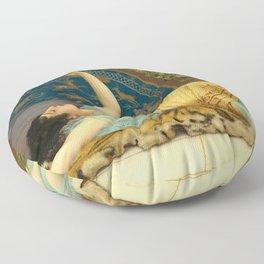 DOLCE FAR NIENTE - JOHN WILLIAM GODWARD Floor Pillow