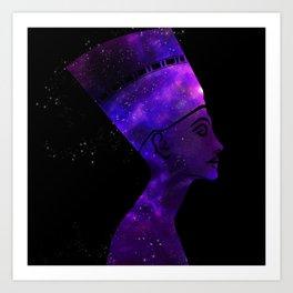 Queen Nefertiti Nebula Dark Stardust Art Print