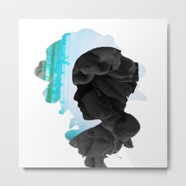 BTS - Suga Smoke Effect Metal Print