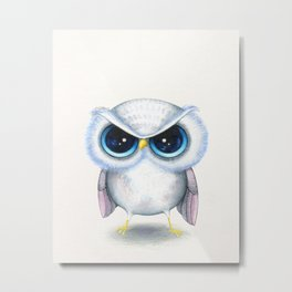 Grumpy Owl  Metal Print