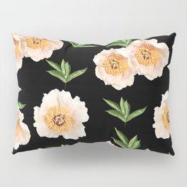 Peonies Flower Pattern on Black #1 #floral #decor #art #society6 Pillow Sham