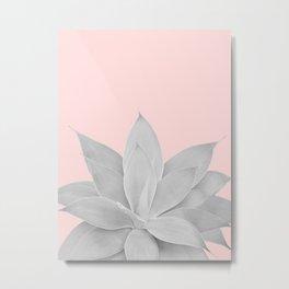 Blush Agave #1 #tropical #decor #art #society6 Metal Print