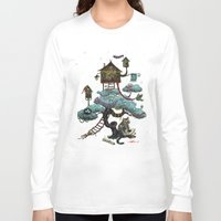 christmas tree Long Sleeve T-shirts featuring Christmas Tree by Anna Shell