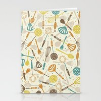 kitchen Stationery Cards featuring Kitchen Utensils by Anna Deegan