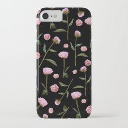 Peonies on Black iPhone Case