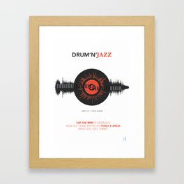 DRUM'N'JAZZ Framed Art Print