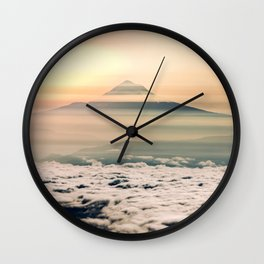 The West is Burning - Mt Hood Wall Clock