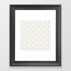 Fun Dots purple green Framed Art Print