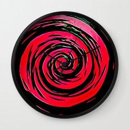 Hypnotic Red Wall Clock