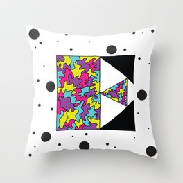 Letter E Throw Pillow
