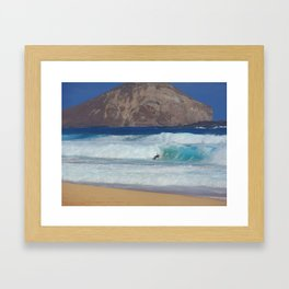 Makapu'u Sunday  Morning Framed Art Print