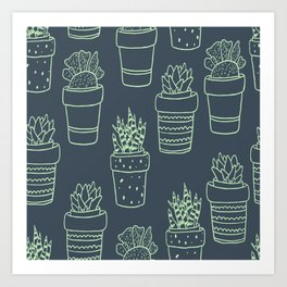 Succulents Power Art Print