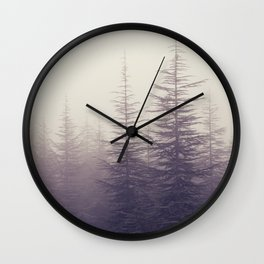 Abetos. Retro Wall Clock