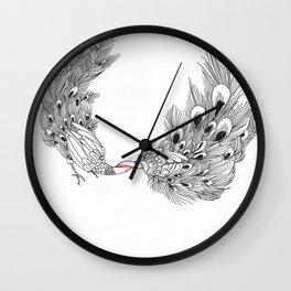 Peacock III Wall Clock