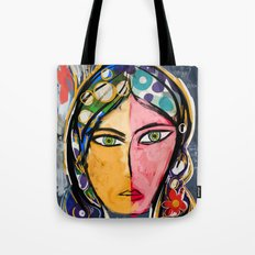 Portrait of a mystique girl Tote Bag