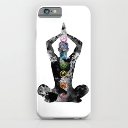 Meditating Man with Seven Chakras iPhone Case