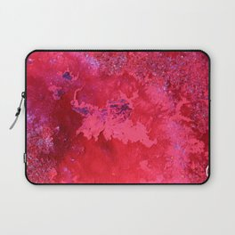 Pink Nebula Original Mixed Media Abstract Painting, Abstract Artist, Contemporary Art And Design Laptop Sleeve