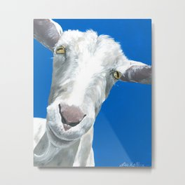 Goat art.  'Alfred' from acrylic on canvas goat painting Metal Print