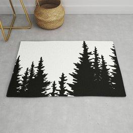 Dense Forest Tree Line Rug