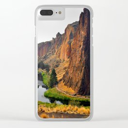 Desert Rock Valley Clear iPhone Case