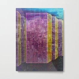 Blocks / Urban Metal Print