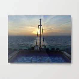 Learning the rythm of the waves.  2.0 Metal Print
