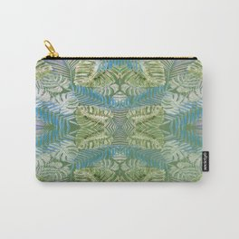 Jungle Print Teal Carry-All Pouch
