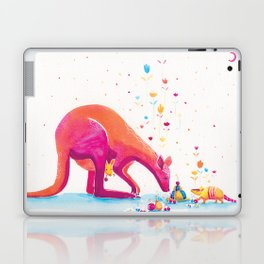 Princess Kangaroo Art Print - Armadillo's Generous Offering Laptop & iPad Skin