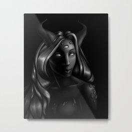 Portrait of a Demon Metal Print