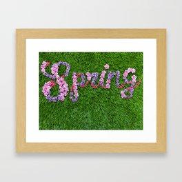 S P R I N G Framed Art Print