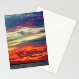 October Lake St.Clair Sunset Stationery Cards