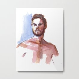 MARK, Semi-Nude Male by Frank-Joseph Metal Print