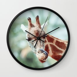Northern Giraffe (Giraffa Camelopardalis) Portrait Wall Clock