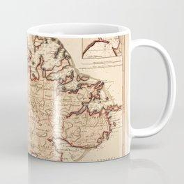 Map Of Antigua 1794 Coffee Mug