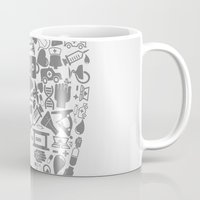 tooth Mugs featuring Tooth by aleksander1
