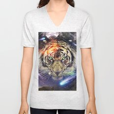 Space Tiger Unisex V-Neck