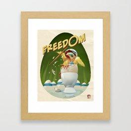 Freedom Egg Framed Art Print