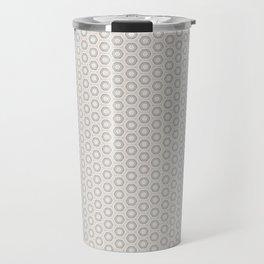 Hexagon Light Gray Pattern Travel Mug
