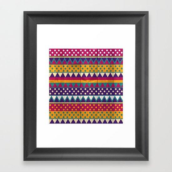 Mexican Pattern Framed Art Print