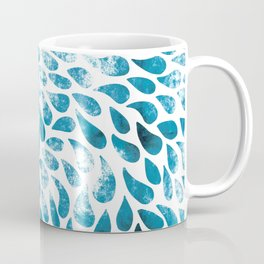 CUT OUT TEAR DROP PATTERN / INDIAN INK Coffee Mug