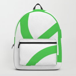 Peace (Green & White) Backpack