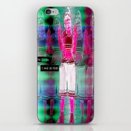 Don't get too physical iPhone Skin