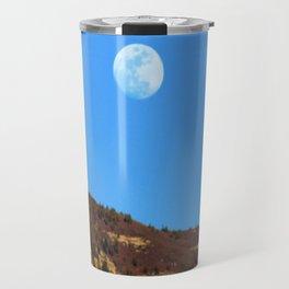Moon Rising Over the Sandia Mountains 2 Travel Mug