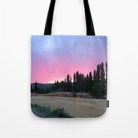 madrid Tote Bags featuring atardecer Madrid by Maritserg
