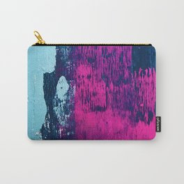 Early Bird: A vibrant minimal abstract piece in blues and pink by Alyssa Hamilton Art Carry-All Pouch