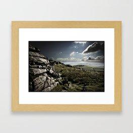 DARTMOOR ROCKS Framed Art Print