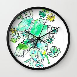 Leaf Burst Wall Clock