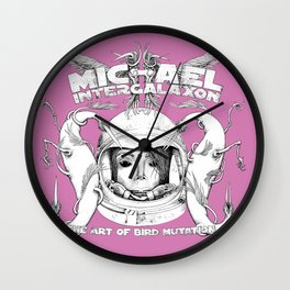 Michael Intergalaxon (Black & White) Wall Clock