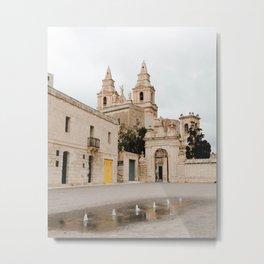Parish Church of Mellieha Metal Print