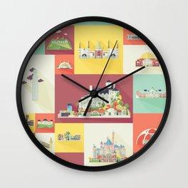 Los Angeles Landmarks Wall Clock